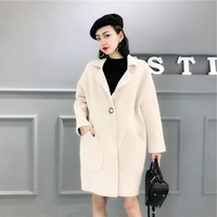 Artificial Mink Cashmere Comfortable Long Sweater 2018 Winter Warm Cardigans knit Full Sleeve Office Lady Soft Tops Coat