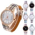 Hot Sale Watch Fashion Plaid Leather Watches Women Watches Luxury Gold Ladies Watch Hour Clock relogio feminino reloj mujer