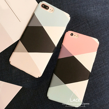Fashion Geometric Graphic Pattern Case For iphone 7 Case For iphone7 7 PLus Phone Cases Colorful Abstract Triangle Back Cover