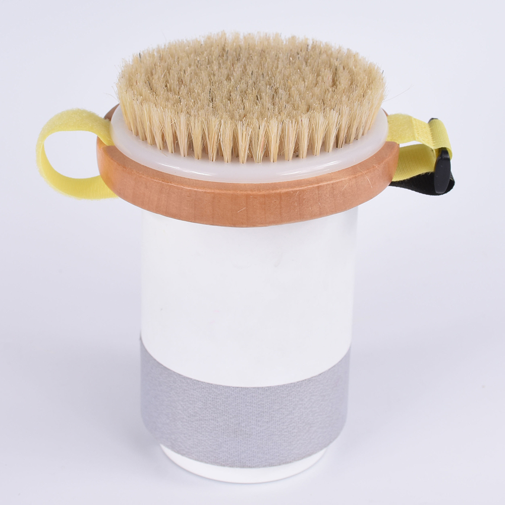 Wooden Massage Natural Round Back Scrubber Bathroom Cleaning Bath Exfoliating Body Soft Skin Accessories Shower Brush
