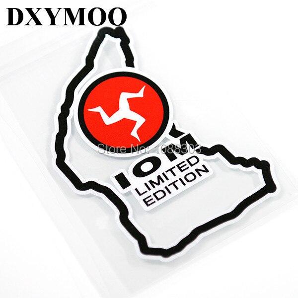 Etiqueta engomada de la cola de la ventana del coche del casco de la Isla de MAN de la edición limitada de IOM para TT ARAI RX7X