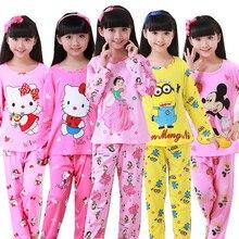 New Sale 2016 Autumn&Winter Baby Sleepwears Suits Lovely Gilr Pajamas Children Pyjamas Girls Cartoon Pijamas Kids Clothing set