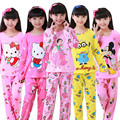 New Sale 2017 Autumn&Spring Baby Sleepwears Suits Lovely Gilr Pajamas Children Pyjamas Girls Cartoon Pijamas Kids Clothing set