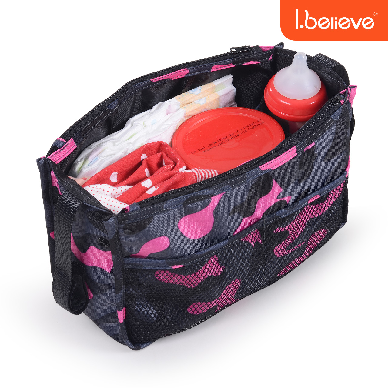 I.believe love Beili Mummy bag stroller large capacity Mummy bag multifunction hand carry bag