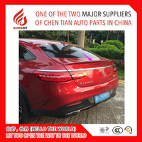High quality ABS primer or black silver color car rear lip spoiler for GLE Coupe GLE450 GLE400 GLE320 GLE300 GLE500 2015 16 2017