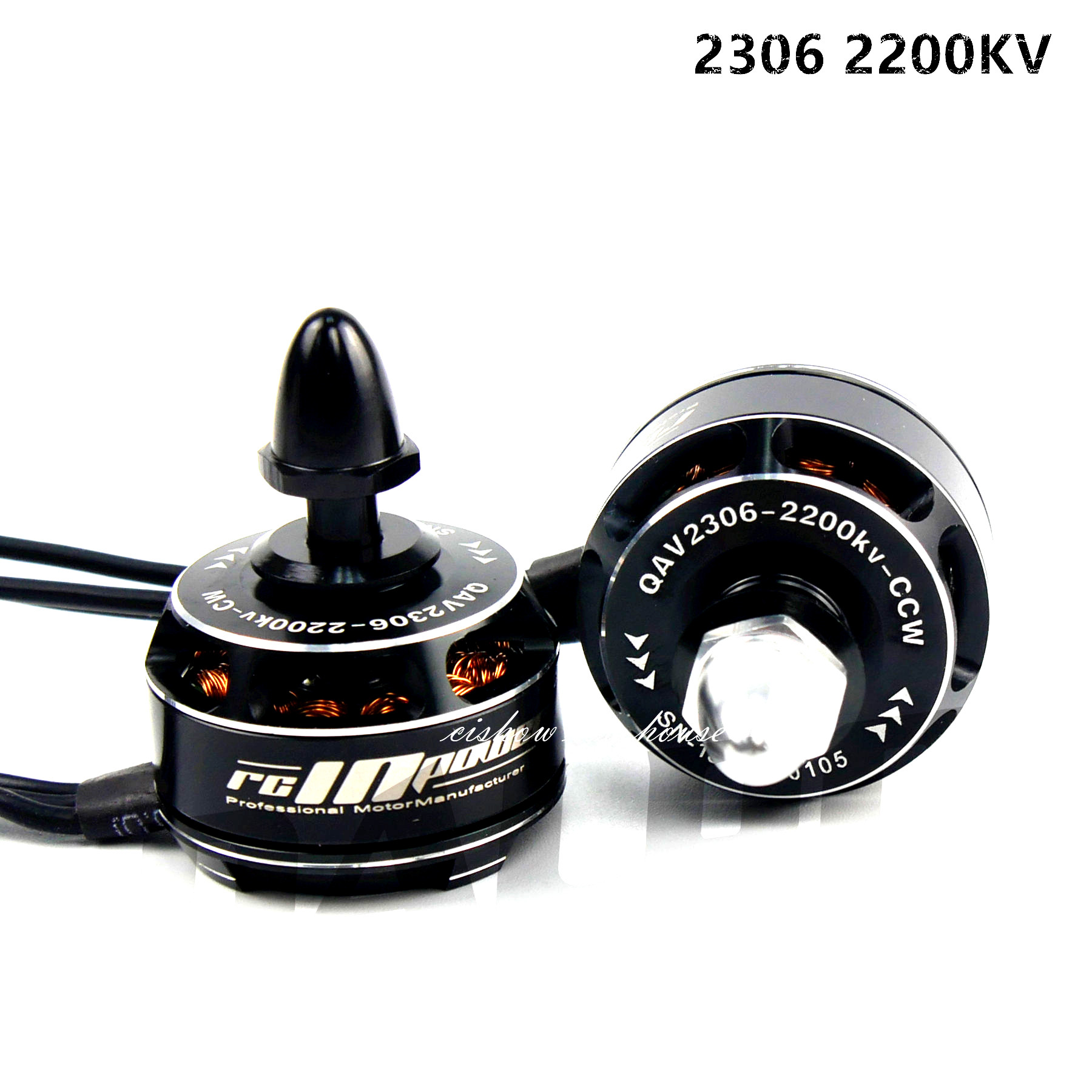 RCINPOWER 2306 2200KV Mini Brushless Motor CW CCW for RC Racing Multicopter FPV high quality kingkong 1306 3100kv 2 4s burshless motor cw ccw for fpv racer drones rc multicopter