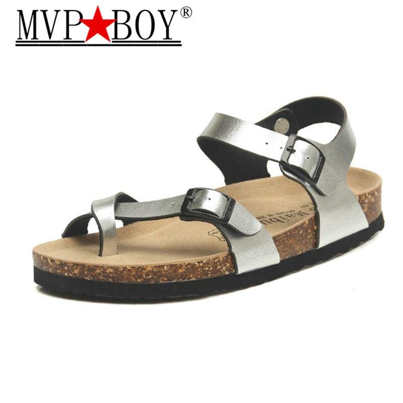 MVP BOY Fashion Cork Sandals 2018 New Women Summer Beach Gladiator Buckle Strap Shoes Flat Casual women sandals