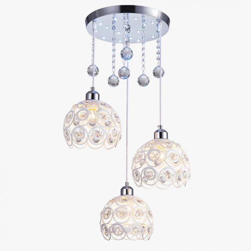Modern Simple Fashion Led Dining Chandelier Creative RoomCrystal Single Balcony led Lamp Wholesale