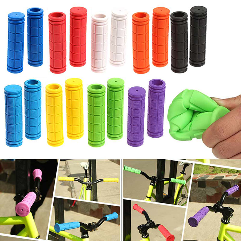 1 Pair Bicycle Handlebar Grips Soft Rubber Cycling X M Mountain Bike Scooter Fixed Gear Bar End Parts Accessory Tool 88