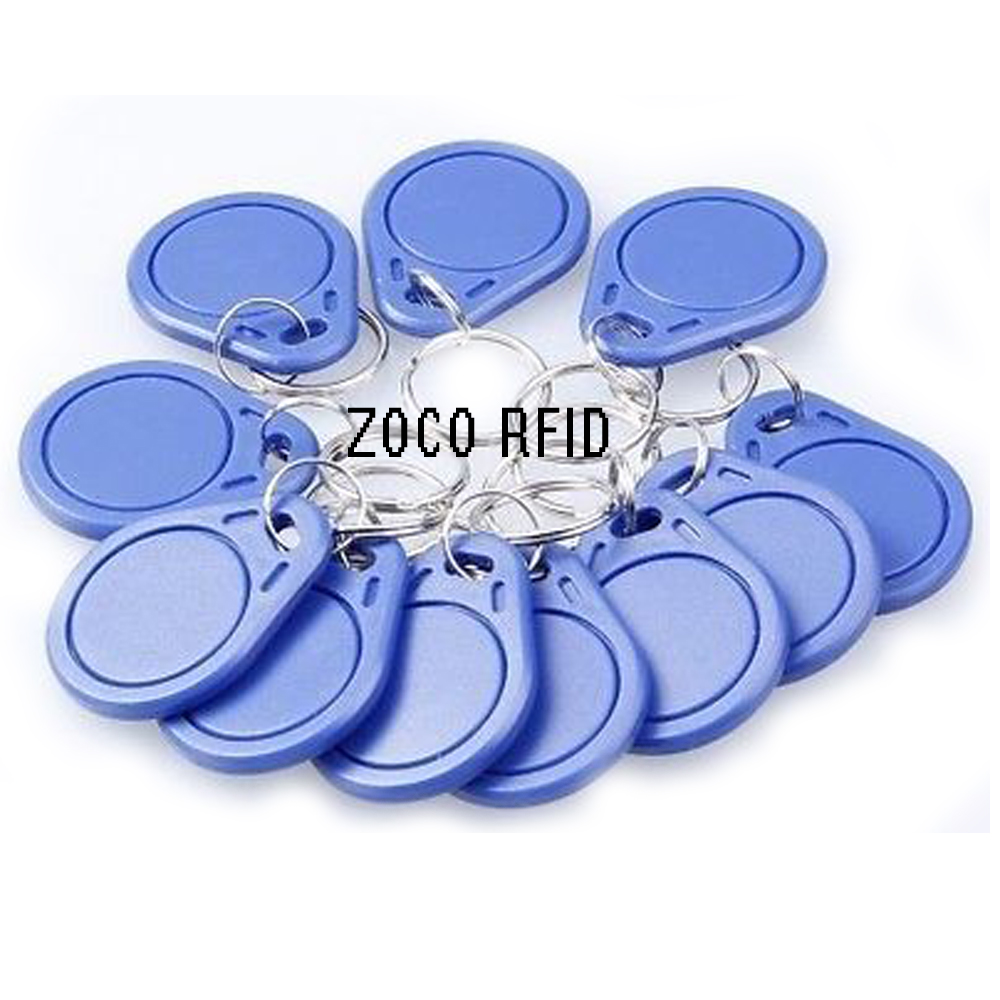 Image 2 - 10pcs/lot RFID hotel key fobs 125KHz rewritable keychain  and rewritable proximity ABS tags for RFID copier-in IC/ID Card from Security & Protection