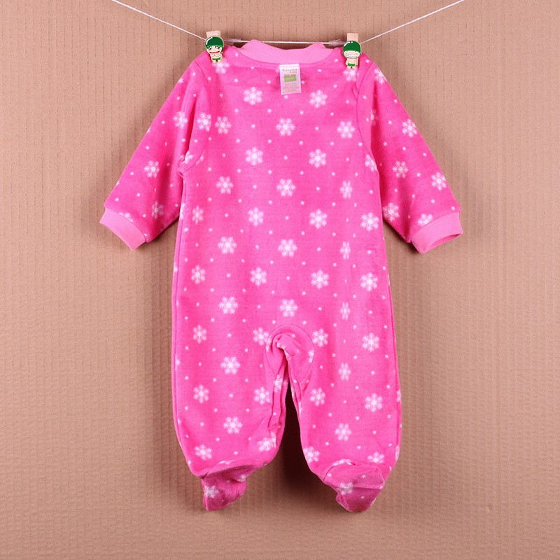 New Arrival Baby Footies Boys&Girls Jumpsuits Spring Autumn Clothes Warm Cotton Baby Footies Fleece Baby Clothing Free Shipping (22)