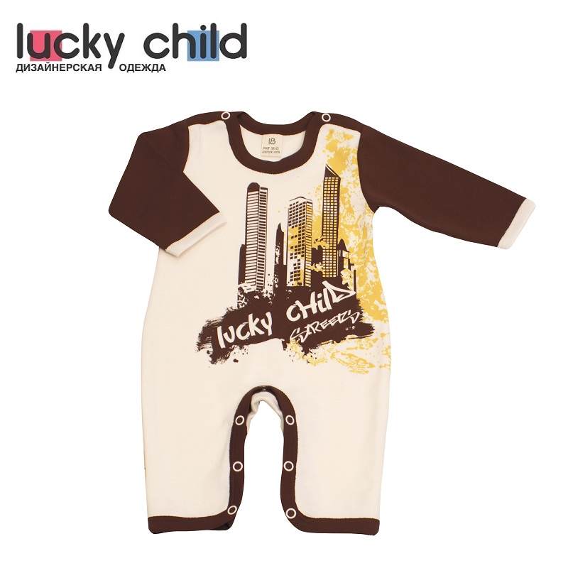 Jumpsuit Lucky Child for boys and girls 16-21 Children's clothes kids Rompers overalls lucky child for girls and boys 8 1 baby rompers children clothes