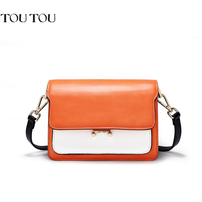 TOUTOU bags for women 2018 new contracted and fashionable joker color small square bump inclined shoulder bag Free shipping цена