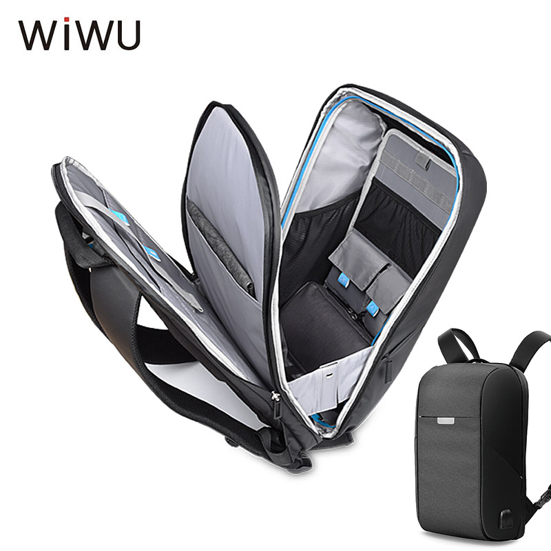 2018 WIWU New Anti-thief USB Charging Men Laptop Backpack 15.6 inch Business Travel Bag Large Capacity Stundet Backpack Onepack business backpack laptop man travel bags laptop backpack anti thief design school computer men luggage large capacity travel bag
