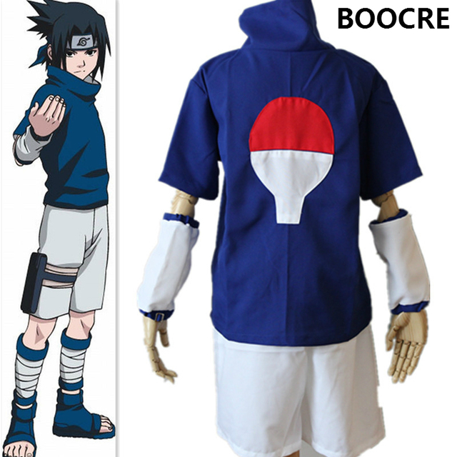 Anime Naruto Cosplay Costume Ninja Sasuke Uchiha Halloween Party Cosplay  Costume
