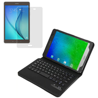 1x Screen Protector Wireless Bluetooth 3 0 Detachable Keyboard Leather Stand Case Cover For Samsung Galaxy