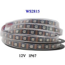 1m/3m/5m DC12V WS2815 (WS2812B/WS2813) RGB LED Pixels Strip Light Individually Addressable Dual-Signal 30/60/144 Pixels/Leds/m high quality 5m dual signal wires dc5v ws2813 30 60 144leds m individually addressable rgb led pixel light strip 2811 ws2812b up