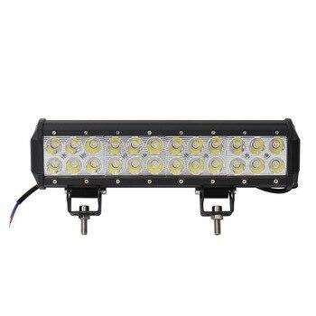 Barra de luces LED de 10 piezas para el trabajo del coche 72W 24x3 W 12-24V 300x lámpara de inundación de 65x80mm para la iluminación del camión de caza