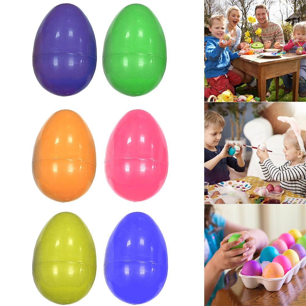 2019 New Surprise Easter Eggs Assorted Colour Children Toy Craft Model Fillable Gifts Chocolate Random Color @ZJF