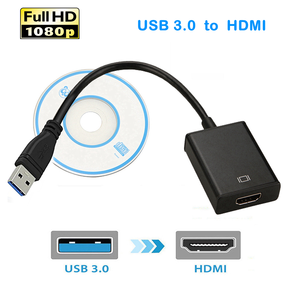 USB 3.0 to HDMI 1080P External Video Graphic Card Cable Adapter Converter Cable USB3.0 HDMI Multi Monitor Display HDTV AdaptorUSB 3.0 to HDMI 1080P External Video Graphic Card Cable Adapter Converter Cable USB3.0 HDMI Multi Monitor Display HDTV Adaptor