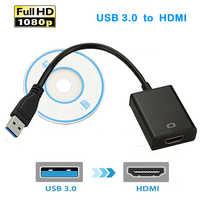 USB 3.0 to HDMI 1080P External Video Graphic Card Cable Adapter Converter Cable USB3.0 HDMI Multi Monitor Display HDTV Adaptor