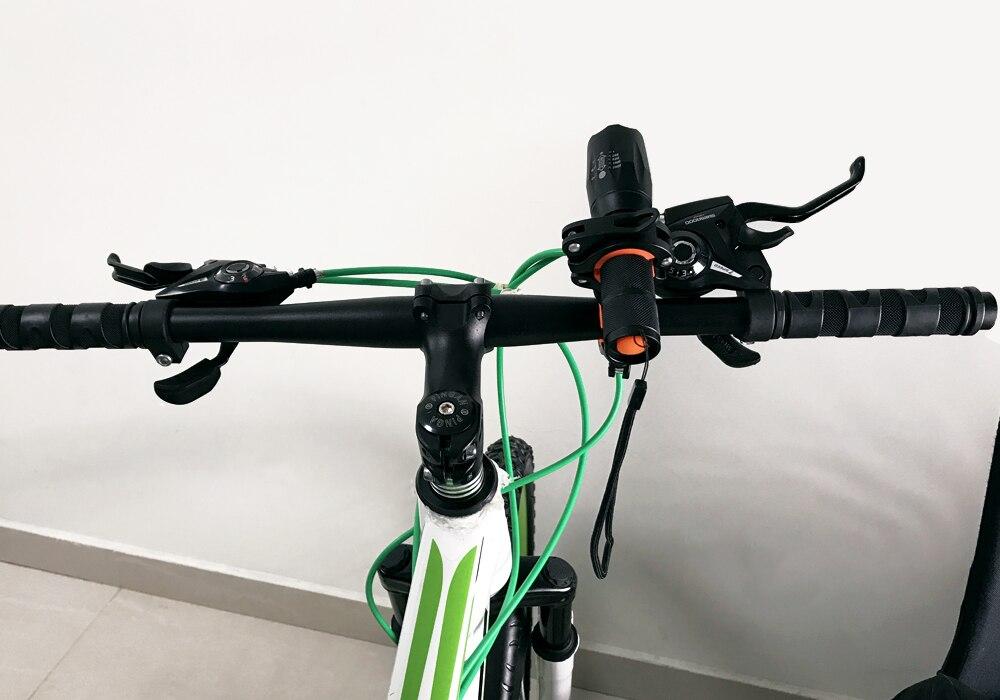 WOSAWE 1000 люмен MTB велосипед свет T6 светодиодный Водонепроницаемый Увеличить велосипедов держатель фонарик Перезаряжаемые 5 режимов Аксессуа...