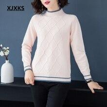 c0391cdc9 XJXKS high quality autumn 2018 new casual women pullover sweater m-xxl  comfortable wool knit