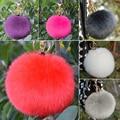 Hot Furry Ball Keychain Bag Key Hanging Tail Accessories Rabbit Fur Key Ring  6RFZ