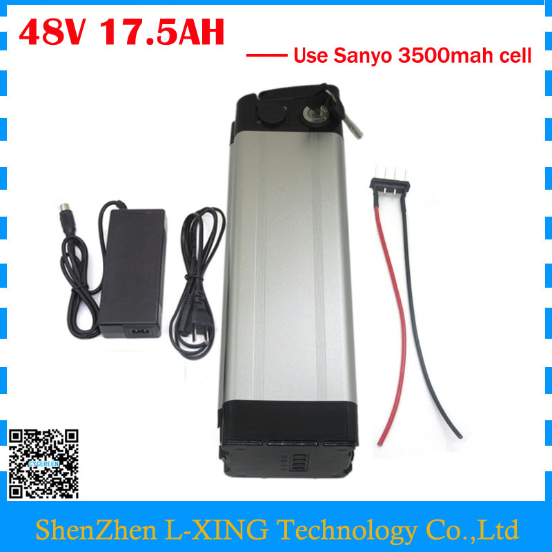 Free customs duty 48v 17.5ah lithium ion battery 48V 17ah battery silver fish use NCR18650GA 3500mah cell 30A BMS 48v 20ah 1000w lithium ion battery 48v 8fun bbshd battery 48v battery 54 6v battery pack free customs duty