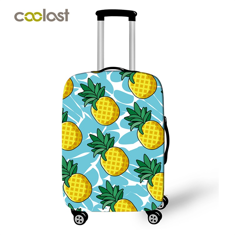 Summer Luggage Protective Covers Elastic Girls Suitcase Cover koffer Carry on Baggage Case Bag Pineapple Travel Accessories