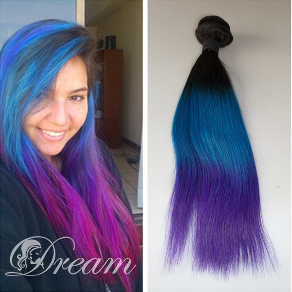 Blue ombre hair weave gallery hair extension hair highlights ideas online shop dream remy queen hair 100 human hair weave brazilian online shop dream remy queen pmusecretfo Choice Image