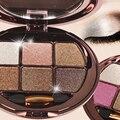 6 Cores Glitter Eye Sombra Palette Pigmento Diamante Maquiagem Cosméticos Smoky Nu Eyeshadow Paletas Kit com Escova maquiagem