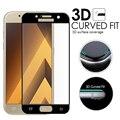 3D Изогнутые Поверхности Полное Покрытие Экрана взрывозащищенный Закаленное Стекло Пленка Для Samsung Galaxy A3 A5 A7 2017 A520 A320 A720