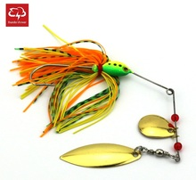 10pcs Spinnerbait Metal Sequins Lures 16.3g Spinner Beard Tackle Silicone Skirt Jig Fishing Lure Bass Minnow Wobbler (SB001)