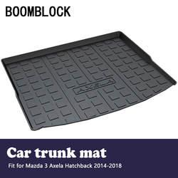 Авто Коврики для багажника задний багажник коврик для Mazda 3 Axela хэтчбек 2018 2017 2016-2014 Чемодан лоток ковер грязи анти Удар Крышка Мат