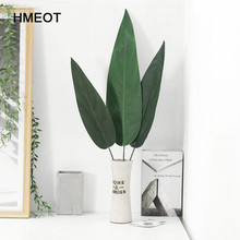 HMEOT Artificial Green Big Bamboo Leaves Fake Green Plants Greenery Leaves for Hotel Office Home Decoration Simulation Flower