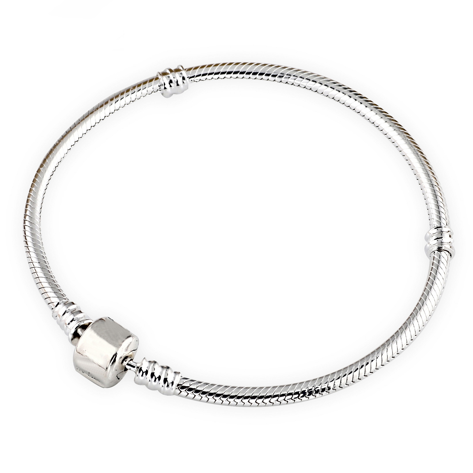 Authenetic 925 Sterling Silver Bracelet Snake chain Lobster Clasp Basic Bracelet Bangle Fit Women Bead Charm DIY Pandora Jewelry 925 sterling silver pandora bangle poetic blooms clasp snake chain bracelet bangle fit women bead charm diy europe jewelry