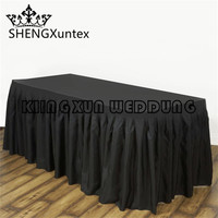 5PCS Sale Polyester Table Skirt For Wedding Event Decoration