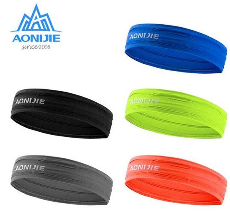 AONIJIE Headband Sport Elastics Sweatband Anti Sweat Hairband Yoga Accessories Gym Fitness Tennis Running