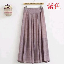 New Hot 2018 Thin Cotton Skirt Autumn Mori Art Fan Funerals Woman Intellectual Linen