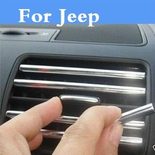 U Car styling Air Outlet Dashboard Strip door Decorative Sticker For Jeep Liberty Renegade Wrangler Commander