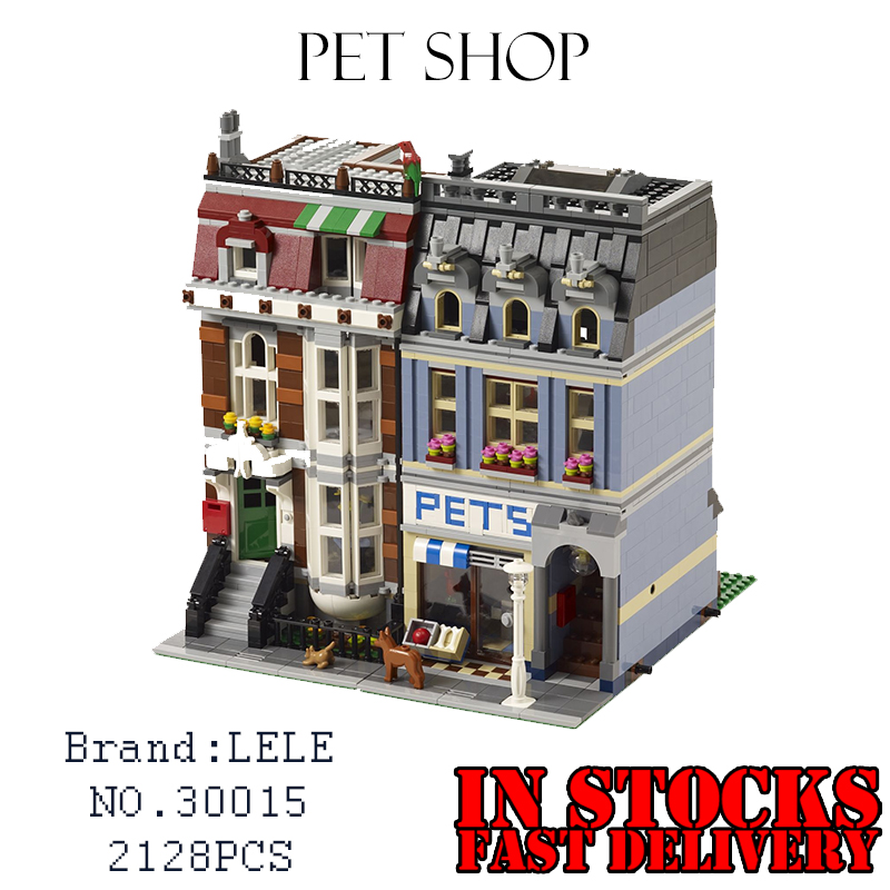 LELE 30015 2133pcs City Creator Pet Shop Supermarket Building Blocks Bricks toys for children gifts Compatible 10218 Lepin 15009 лук традиционный сила натяжения 18 кг sniper 70 quot 40lbs bearpaw 30015 150