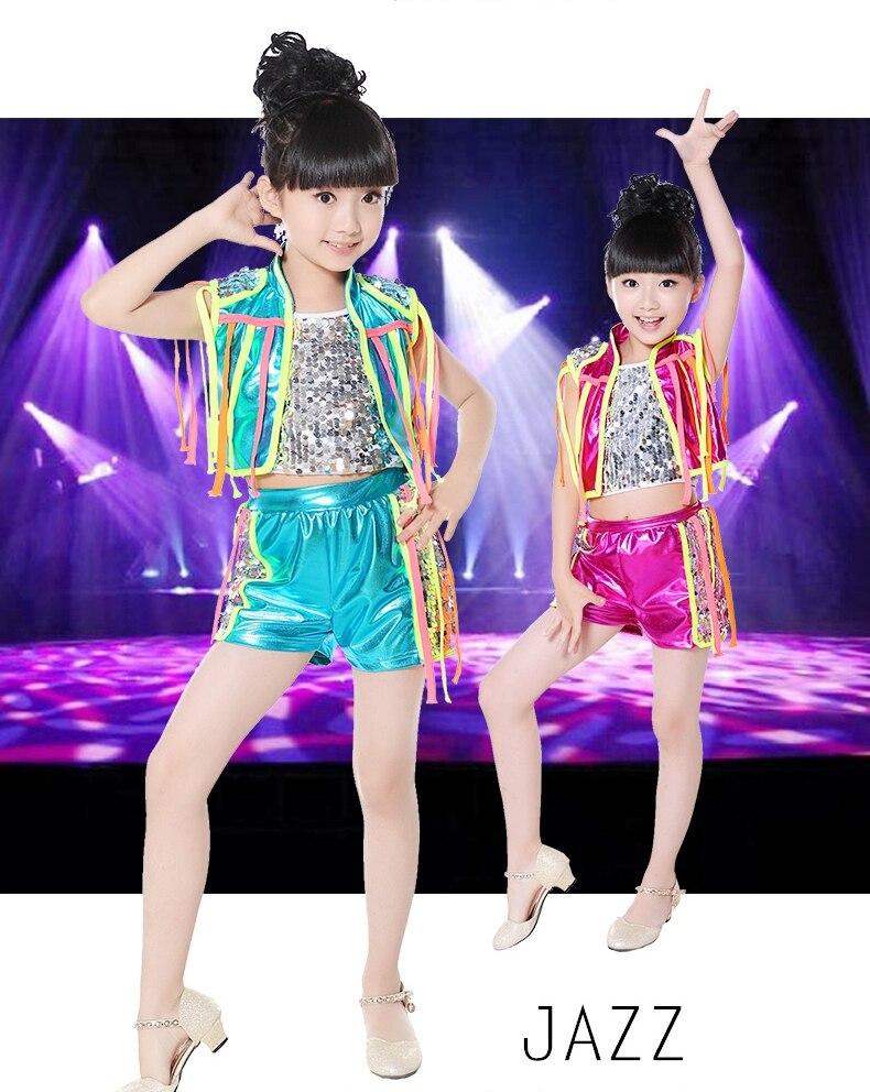 (3-piece sets) Summer Children Hip Hop Performance Wear Clothing Sets 2015 Boys Girls Jazz Modern Dance Costumes Kid dance Suits
