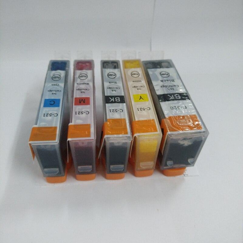 1set PGI 520 CLI 521 ink cartridge for Canon Pixma MP540 MP550 MP560 MP620 MP630 MP640