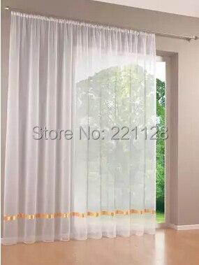 Prezzo per Pezzo Qualità solido bianco del tutto-fiammifero schermi finestra tenda tulle sheer curtian voile cortina con il nastro spedizione gratuita