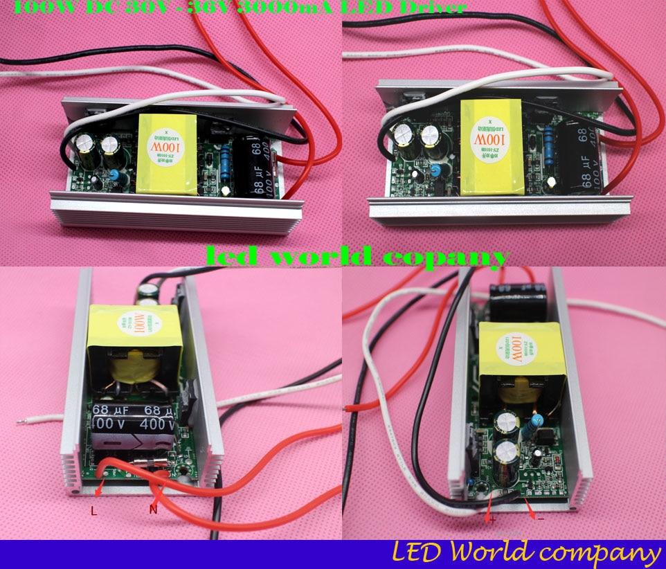 100w Led Driver AC 85V-265V Output 30V-36V DC For 100W