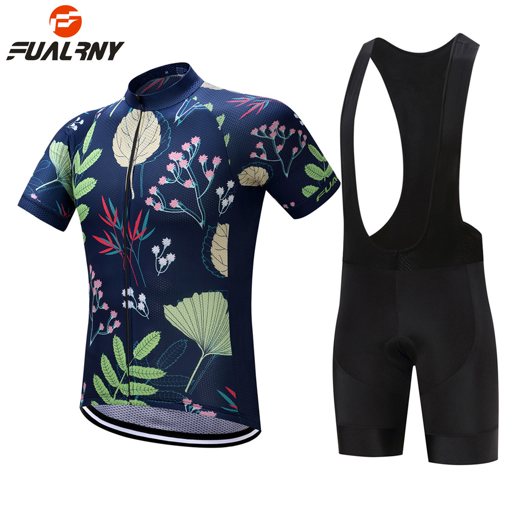 FUALRNY 2018 Men Women Short Sleeve Cycling Jersey Set MTB Bike Clothes Summer Bicycle Clothing Maillot Conjunto Ropa Ciclismo cheji men original camouflage green cycling jersey mtb outdoor breathable bike short sleeve clothing bicycle jersey s 3xl