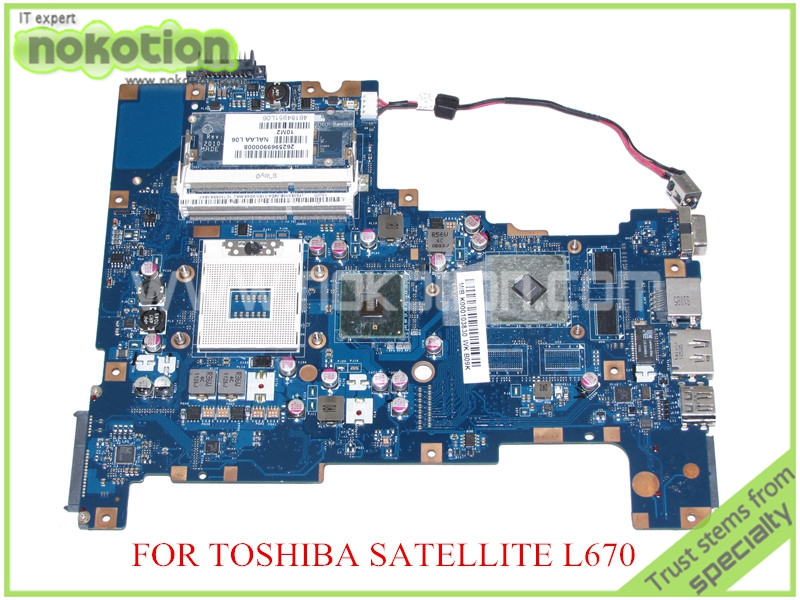 NOKOTION NALAA LA-6042P Rev 1.0 MB K000103830 For toshiba satellite L670 L675 laptop motherboard HM55 ATI HD 5470 graphics mb psm06 001 mbpsm06001 for acer aspire 4745 4745g laptop motherboard hm55 ddr3 ati hd5470 512mb discrete graphics mainboard