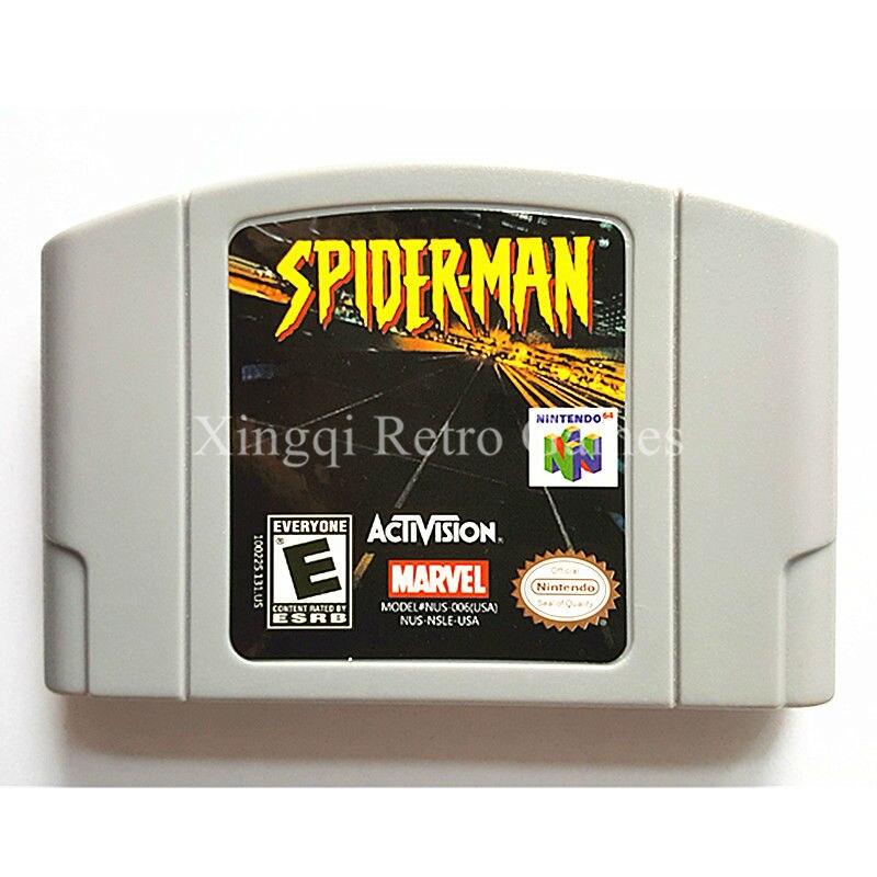 Nintendo N64 Game Spider-Man Video Game Cartridge Console Card English Language US Version