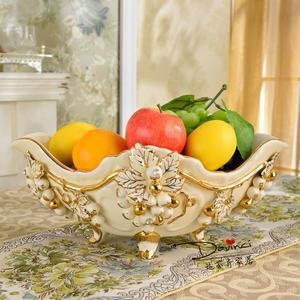 Fruit bowl of European fruit set the living room luxury decoration ceramic fruit plate Bridal Wedding Gift